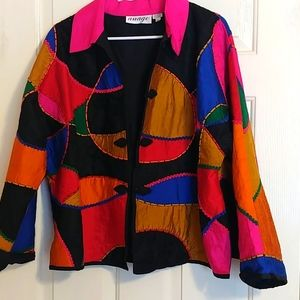Vintage Anage Sequin Colorblock Blazer